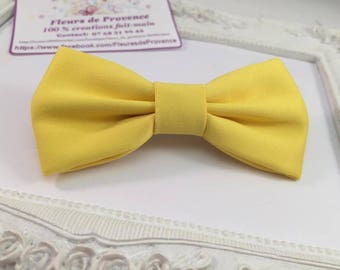 Yellow bow tie hair Barrette