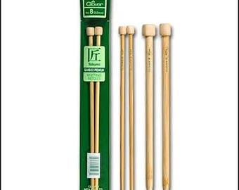 Bamboo knitting needles original Clover Takumi Bamboo 40 cm length in 5 sizes they are naturally beautiful and feel warm in your hand