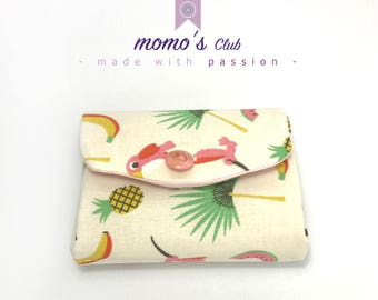 Smart wallet-Coin Purse-Cash System-coin purse-with pineapple, watermelon, tucano rosa
