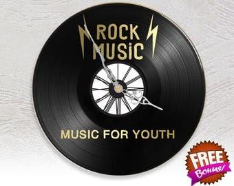 Clock vinyl two layered black & color / / Rock Music