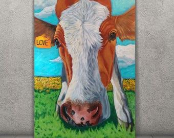 Pitbull Wall Art pit bull art pit bull painting amstaff art pitbull canvas