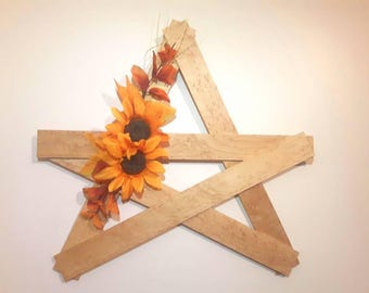 Birdseye Maple - Rustic Star - Wood Star - Fall - Autumn -  Solid Wood - Rustic Wall Hanging - Wood Decor - Country Decor
