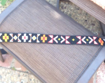 VINTAGE BLACk BEADEd HIPPIE BELt