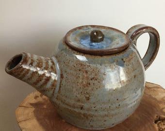 Light Blue & Brown Tea Pot