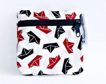boats/ships tampon case, tampon holder, change, mini purse, little purse, organizer, stocking stuffer, christmas