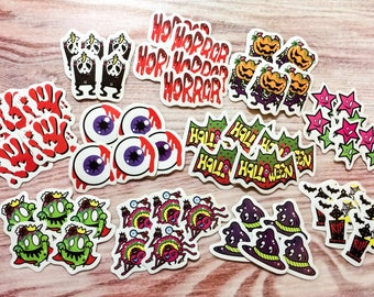 Halloween Sticker Flakes - American Pop Theme