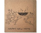 Housewarming Gift Illustrated Greeting Card, Moving Card, Houseplant Card, Plants Card, Gardening Card, Happy New Home Card