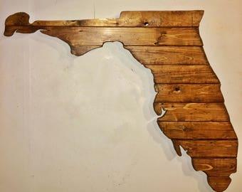 Florida Wood State Sign