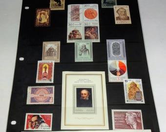 Armenia Through Postage Stamps Block of 4, Singles, Stamps Sheet.