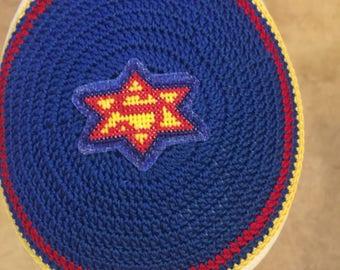 Super Jew Superman inspired kippah yarmulke