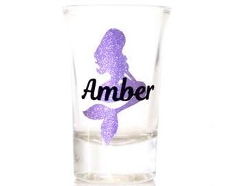 Mermaid Shot Glass | Mermaid Bachelorette Party | Bachelorette Party Shot Glasses | Personalized Shot Glass | Bachelorette Party Favors
