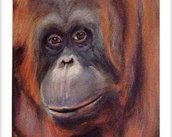 "Urangutan (Pastel) ""Say No To Palm Oil!"""