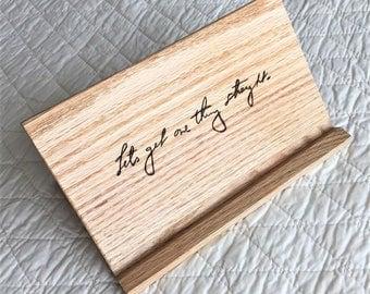 Wooden Tablet Holder Handwriting Gift Sign | Wooden Tablet Stand | Handwriting Gift Wood |Handwriting Gift for Women|Handwriting Wooden Sign