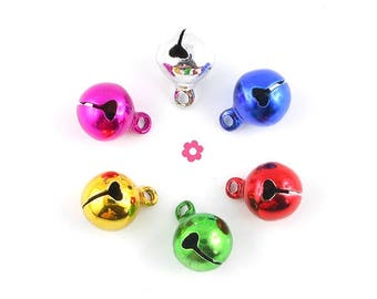 Charm Bell Bell 14x10mm (130D) color 6 x