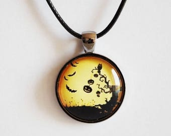 Sale Halloween  necklace Halloween Pumpkins pendant Halloween jewelry Pendant