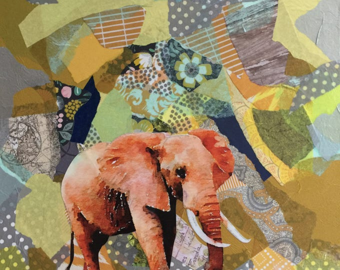 Elephant Paper Collage