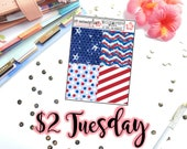 Tuesday's 2's- 4th of July Headers/Dividers | Planner Stickers | Perfect for any planner