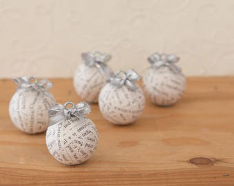 Handmade, Baubles, Christmas Baubles, Christmas Tree Baubles, Christmas Ornament Set