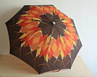Vintage Umbrella - Rain Umbrella - Soviet Vintage Umbrella - Mid-Century Umbrella - Vintage Parasol