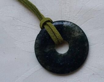 natural stone 2 cord pendant