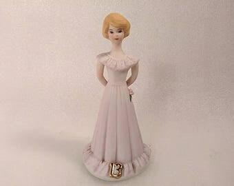 Vintage Enesco Growing Up Birthday Girls Figurine