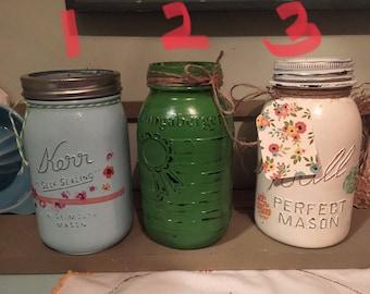 Upcycled Vintage Jar- Utensil Crock.