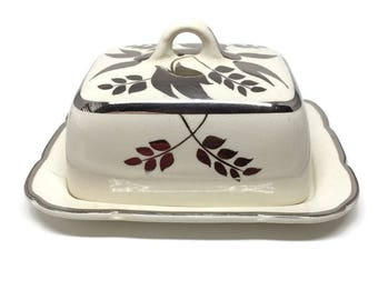 Butter Dish with Lid Lancaster and Sandland Made in Staffordshire England
