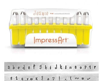 Metal Stamping Kit Lowercase Alphabet Letter Stamps Impressart Jeanie Stamping Kit 4mm -No Shipping Costs within US-