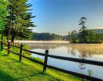 Adirondack Lake Photography, Adirondack Mountains, Lake Luzerne, Home Decor, Adirondack Fine Art, Sunrise Photography, Adirondack Print