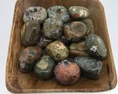 Rhyolite Rainforest Jasper Tumbled - Tumbled Rhyolite - Heart Chakra - Fourth Chakra - Reiki - Energy Healing