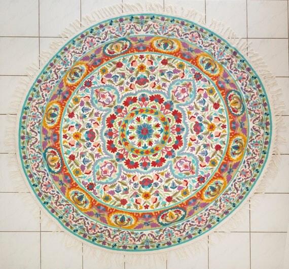 6 ft rund mandala teppich florale teppiche coole teppiche. Black Bedroom Furniture Sets. Home Design Ideas