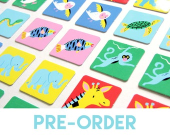 PRE-ORDER // Pairs game - a memory matching game - Animals