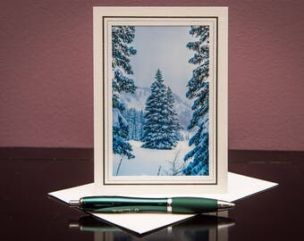 Holiday Card No.11-Greeting Cards-Note Carsd-Christmas-Happy New Year-Family-Love-Snow-Winter-Holiday-Celebration-Christmas Tree-Gift