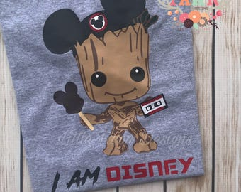 Groot I am Disney T-Shirt - Disneyland - Disney World - Mickey Mouse - Minnie Mouse - Guardians Of The Galaxy - Hollywood Studios