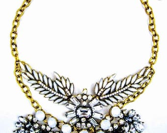 Octavia - White Statement Necklace