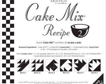 Cake Mix Recipe Pack #2 from Miss Rosie's Quilt Company