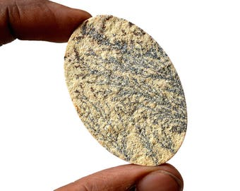 German Dendrite Gemstone Large 74 Cts Natural Designer Psialomelana Dendrite Cabochon, Natural Loose Cabochon, 52x34x5 MM R14197