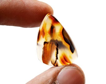 Montana Agate 14.5 Ct Free Form Shape beautiful Natural Gemstone Cabochon 23x16x5 MM R14599