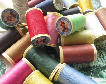 Sajou Gloving Thread/ Fil au Gant No.120 Waxed Gloving, Applique & Tambour Thread- All Colours