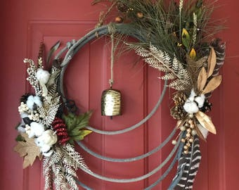 Old Cowboy Rope Wreath's w/Signs