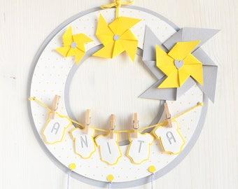 Birth Bow_Baby Door Hanger_Hospital Door Hanger_Hospital Birth Bow_Bow Birth Announcement_Baby Shower Bow_It's a Boy