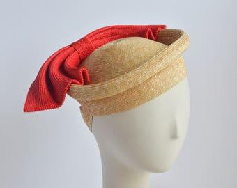 "Straw ""Jiji"" Beret - Sun Hat/Fascinator"