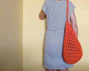 Crochet beach bag.