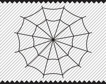 Spider Web Clipart - Spider Web SVG - Cricut file - Iron on Transfer - Cricut - Vinyl Cutting - Laser Cutting and Engraving - Quality Print