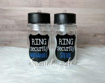 Ring security - ring bearer - ring bearer gift - wedding gift - ring bearer cup - ring security cup