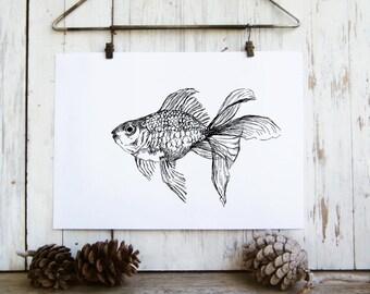 Nautical Wall Art, Bedroom Decor, Black and White Printable, Nautical Print Set, Sea Life print, Coloring pages, Printable Art, Set of 6