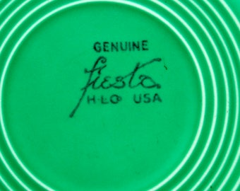 "Rare Genuine Original Green Fiesta - 10-3/8"" Dinner Plate - Top A+++ Condition - Homer Laughlin Fiestaware"