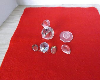 ASSORTED CRYSTAL PARTS