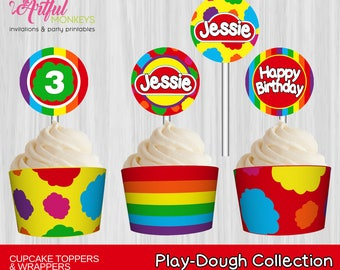 Printable Cupcake Toppers and Wrappers  |  Personalized