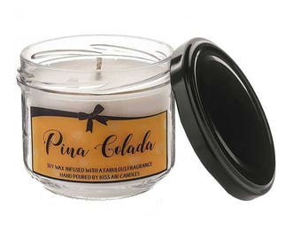 Pina Colada Candle, cocktail candle, pina coloada, candles, soy wax candle, pineapple candle, fruity candle, cocktail gift, vegan friendly